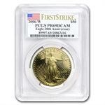 2006-W 1 oz Proof Gold American Eagle PR-69 PCGS (FS) 20th Anniv.