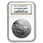 2007-P Jamestown 400th Anniv. $1 Silver Commem PF-70 UCAM NGC