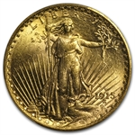 1915-S $20 St. Gaudens Gold Double Eagle - MS-63 PCGS
