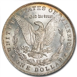 1885-O Morgan Dollar MS-63 PCGS - Beautiful Obverse Toning