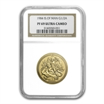 Isle of Man 1/2 oz Gold Angel 1986 PF-69 NGC/PCGS