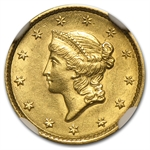 1851 $1 Liberty Head Gold - MS-61 NGC