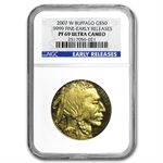2007-W 1 oz Proof Gold Buffalo PF-69 NGC (Early Releases)