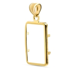 14K Gold Screw-Top Plain-Front Bezel (5 gram Gold Bar)