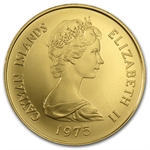 Cayman Islands 1975 100 Dollar Gold Uncirculated