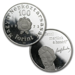 Hungary 100 Forint Silver Proof/Unc ASW= .4527