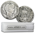 $5 Barber Dimes - 90% Silver 50-Coin Roll (Good or Better)