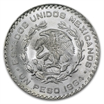 1957-1967 Mexican Silver 1 Peso (AU or Better) ASW = .0514 oz