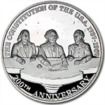 Mexico - 12 oz Proof Silver Medal US Constitution