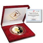 Singapore 1986 Singold 12 oz. Gold Tiger Proof