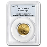 2007-W 1/4 oz Burnished Gold American Eagle MS-70 PCGS