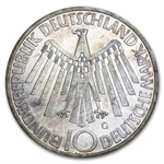 Germany 1972-2001 10 Mark Silver Commemorative Coins ASW .3115