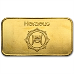 1/2 oz Republic Bank of New York Heraeus Gold Bar .9999 Fine