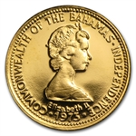 Bahamas 1974-1977 50 Dollars Gold Unc/Proof Tobacco Dove