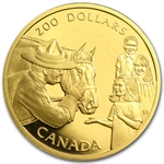 1993 1/2 oz Gold Canadian $200 Proof - Mounted Police