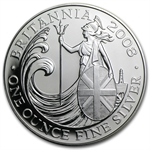 2008 1 oz Silver Britannia (Brilliant Uncirculated)