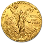 Mexico 1925 50 Pesos Gold Coin (AU/BU)