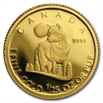 2007 1/25 oz Gold Canadian 50 Cents - The Grey Wolf