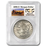 1890-O Brilliant Uncirculated PCGS Stage Coach Silver Dollars