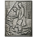 2.08 oz Silver Bar - Norman Rockwell Freedom from Fear- .999 Fine