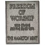 2.08 oz Norman Rockwell - Freedom of Worship Silver Bar