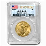 2008 1/2 oz Gold American Eagle MS-69 PCGS (First Strike)