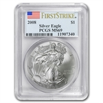 2008 Silver American Eagle - MS-69 PCGS - First Strike