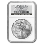 2006-W (Burnished) Silver American Eagle MS-70 NGC Black Label