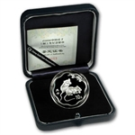 2008 Year of the Rat - 1 oz Silver - Flower Coins (W/Box & Coa)