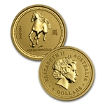 1996-2007 12-Coin 1/20 oz Gold Australian Lunar Set (Series I)