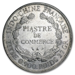 French Indo-China Silver Piastre XF/AU Random Dates