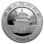 2003 Silver Chinese Pandas 1 oz - (NOT in Plastic)