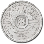 Dominican Republic 1974 Silver Peso Brilliant Uncirculated