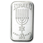 1 oz Israel 1973 - 25th Anniversary Silver Bar .999 Fine