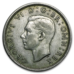 Great Britain 1937-1946 Silver Half Crowns of George VI