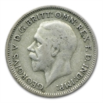 Great Britain Silver Wedding Sixpence 1920-1946