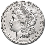 1885-S Morgan Dollar - Almost Uncirculated-58 Details - Cleaned