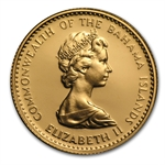 Bahamas 1971 20 Dollars Gold Uncirculated