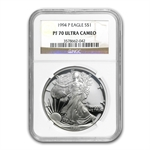 1994-P Proof Silver American Eagle PF-70 UCAM NGC Registry Set