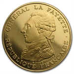 France 1987 100 Francs Gold Proof Lafayette