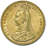 Australia 1887 - M Gold Sovereign Victoria AU