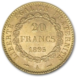 France 20 Franc Gold Lucky Angel (w/ Folder)/Random Dates