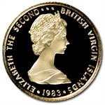 British Virgin Islands 1983 25 Dollars Gold Proof
