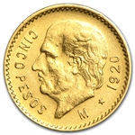 Mexico 1920 5 Pesos Gold Coin (AU/BU)