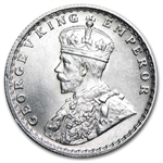 India 1916 Silver 1/2 Rupee Brilliant Uncirculated