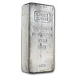 100 oz Credit Suisse Silver Bar .999 Fine