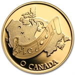 1981 1/2oz Gold Canadian $100 Proof - National Anthem: O Canada!