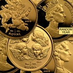Gibraltar 1/2 Royal Gold Cherubs Random Dates AGW .500