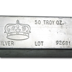 50 oz MG Crown Silver Bar .999 Fine