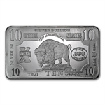 10 oz Buffalo Silver Bar .999 Fine